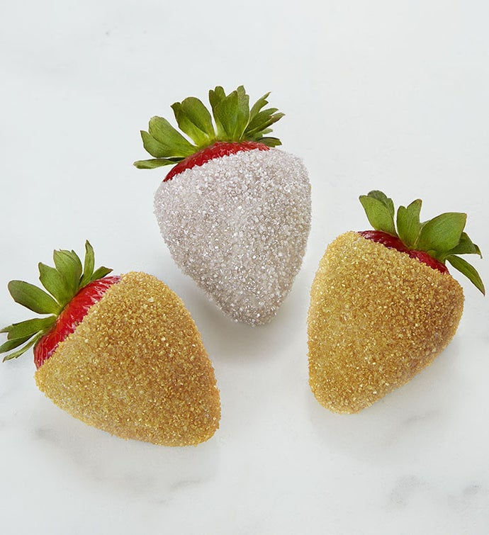 Glittering Gold and Silver Strawberries™