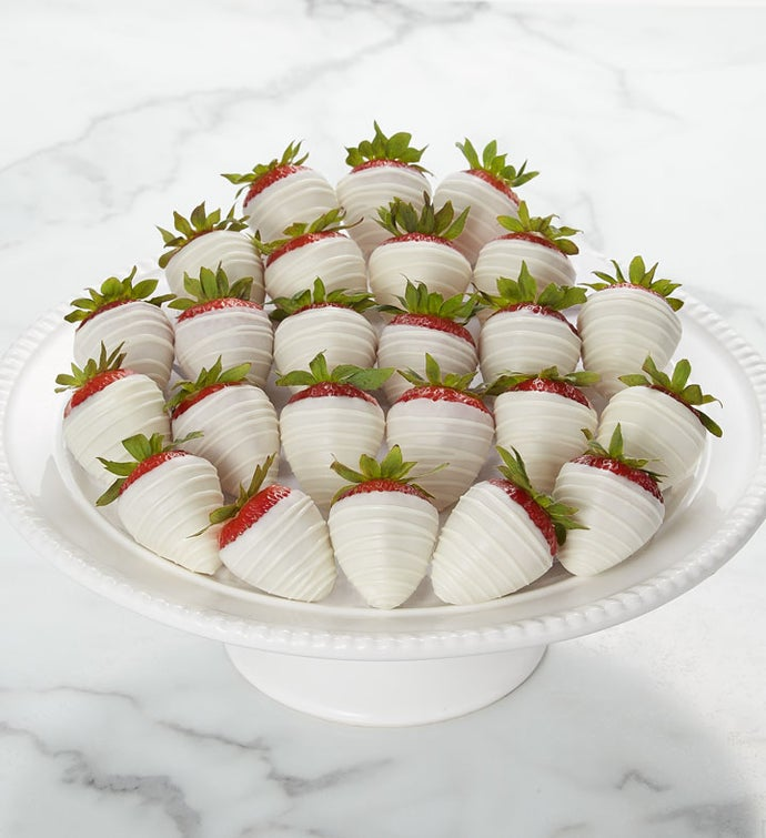 Pure White Dipped and Drizzled Strawberries™
